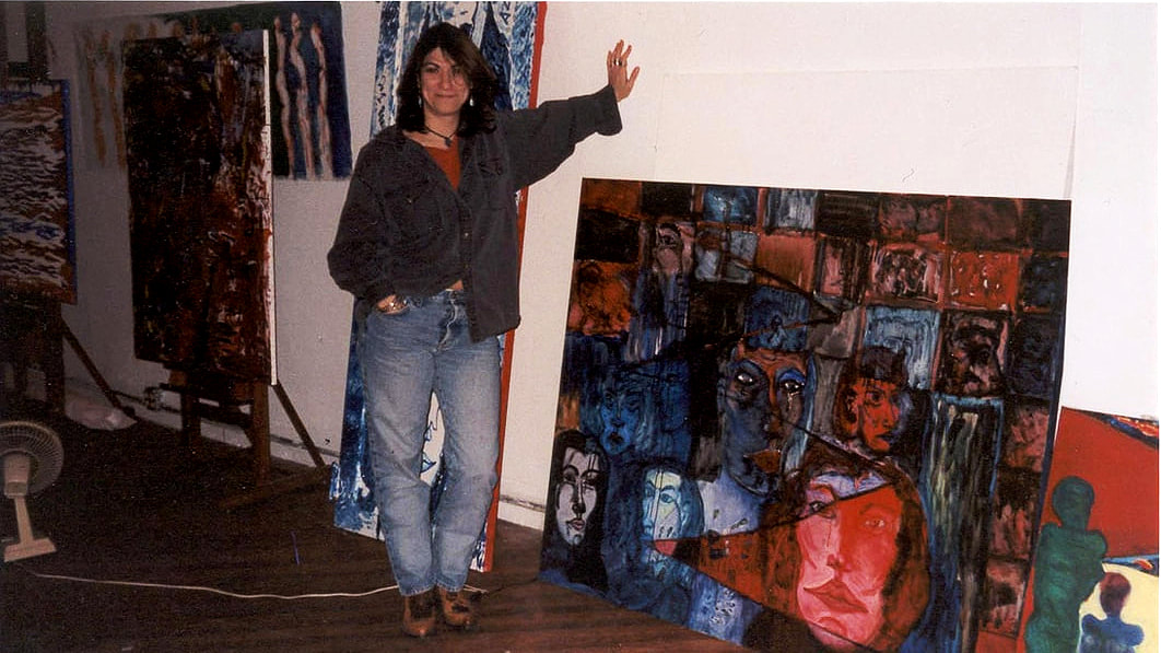 The Artist in studio.
